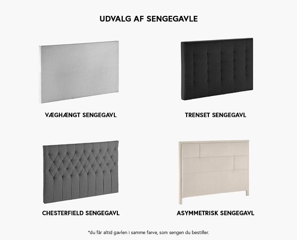 Venus elevationsseng sengegavle